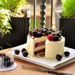 Coconut-Chocolate-Cherry Ice-cream Cake
